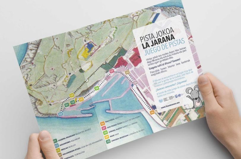 Imagen de un mapa para el juego de pistas