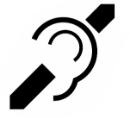 icono de accesibilidad auditiva