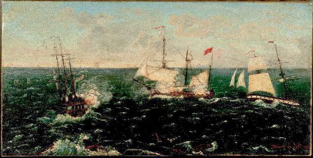 Combate Naval - Siglo XVIII-XIX