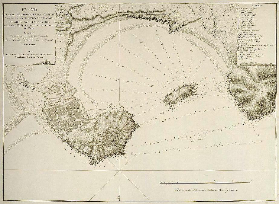 Plano de la Plaza y el Puerto de San Sebastián