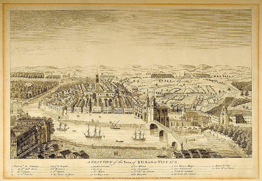 Vista de la Ciudad de Bilbao en Vizcaya