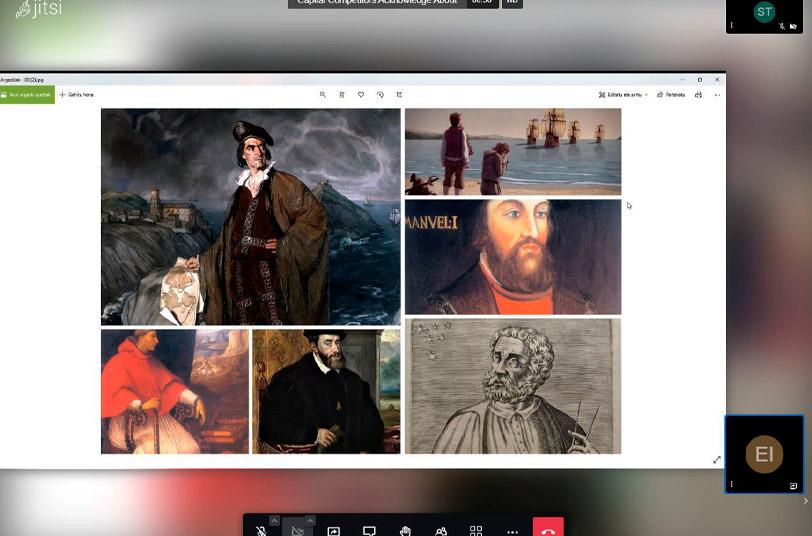 Foto de un taller online celebrado por el Museo